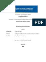 LA ORGANIZACIÓN ESCOLAR EN LAS INSTITUCIONES EDUCATIVAS PÚBLICAS