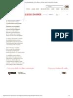 Necrológio Dos Desiludidos Do Amor _ Memória Viva de Carlos Drummond de Andrade