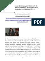 Thodor Codreanu - Jurnalul National 12.01.2014