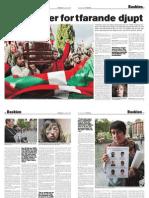 Ärren sitter fortfarande djupt. Det baskiska fångdramat.