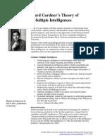 howard gardner theory multiple intelligences