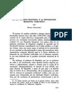 Miguel Poradowsky. La Revolución Francesa y La Revolución Marxista Comunista