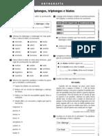 Actividades Ortografia Acentuacion de Diptongos Triptongos e Hiatos Trama