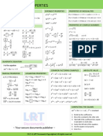 QUICK Reference Mathematics Formular