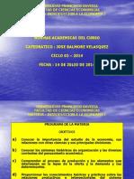 UFG - IEC 1 - Normas Academicas Del Curso - Ciclo 02 - 2014