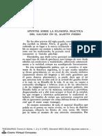 Apuntes Sobre La Filosofía Práctica de Martín Fierro