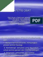 Sap1. SINTETIS OBAT