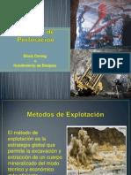 Métodos de Explotacion Real (1) BLOOCK CAVING