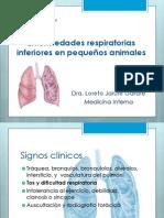 Enfermedades Respiratoria Inferiores en Pequeños Animales
