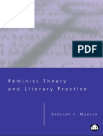 Deborah L. Madsen Feminist Theory and Literary Practice 2000