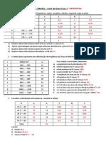 Lista de Exercícios 1 - Estatística - UNIFEI - RESPOSTAS