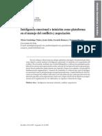 Inteligencia Emocional e Intuición Como Plataforma Para La Negociación y Manejo de Conflictos
