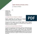 Principales Metales Peru