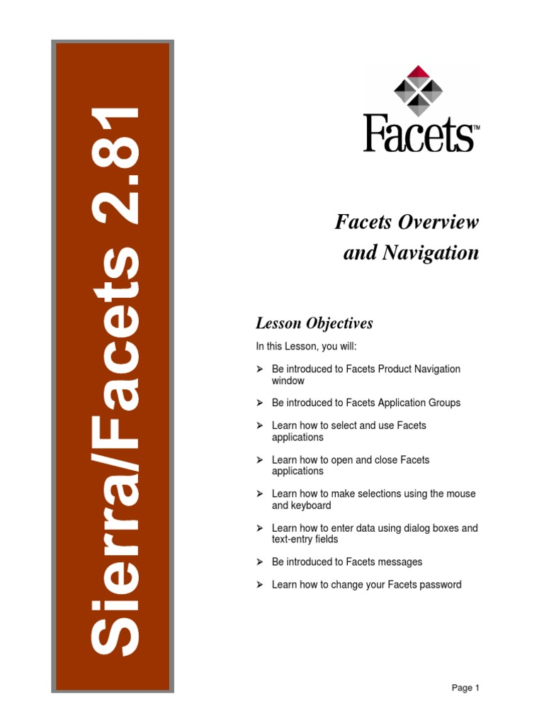 facets overview and navigation user guide graphical user rh scribd com