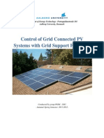Control of Grid Connected PV Systems With Grid Support Functions