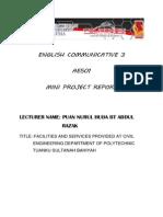 English Communicative 3 Report