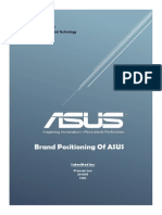 Brand management project on Asus