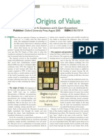 200601 the Origins of Value - A Review