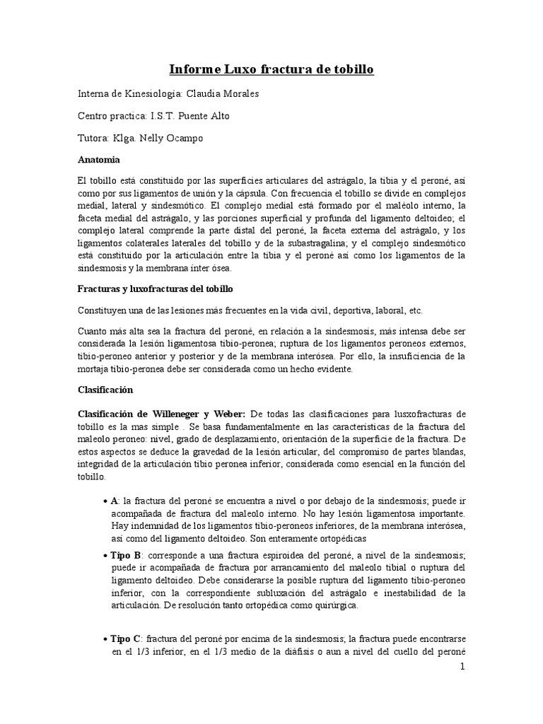 57493959 Informe Luxo Fractura de Tobillo