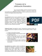 Resumen Variantes de La Desensibilización Sistemática