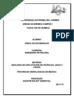 Provincias Hidrologicas en Mexico