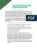Protocolo Para La Obtención de Datos de Diatomeas Bentónicas Final