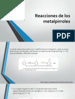 Reacciones de Los Metalpirroles