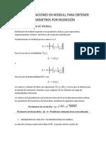 Transformaciones en Weibull Para Obtener Parámetros Por Regresión