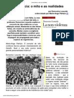 A Não-Violência_ o Mito e as Realidades