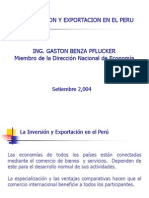 LA INVERSIÓN Y EXPORTACIÓN EN EL PERU