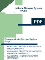 Parasympathetic Nervous System Drugs