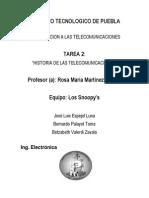 Historia de Las Telecomunicaciones Tarea