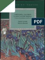 Libro Virtudes Valores y Educacion Moral