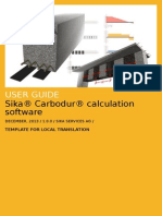 User Guide Sika Carbodur, Template for Translation v1.0