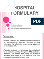 Hospital Formulary Ppt