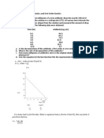 Problems for Zero-Order Kinetics and First-Order Kinetics