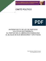 Anteproyecto de Ley de Partidos Políticos