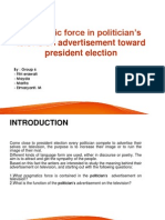 The pragmatic force of politician's advertisement on television.ppt