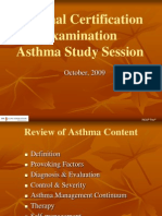 Asthma Study Session Oct 2009