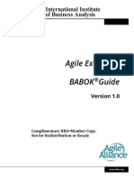 The Agile Extension to the Babok Guide