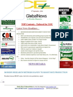 9th September,2014 Daily Global Rice E-Newsletter by Riceplus Magazine