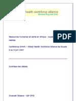 Ressources humaines et santé en Afrique