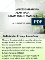Dr. h. Kusmardi. Cairan-gangguan Keseimbangan Asam-basa