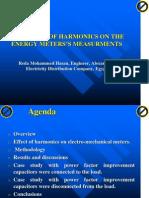 The Effect of Harmonics on Energy Meters Measurements