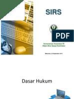 1. Sosialisasi Pelaporan SIRS Melalui SIRS Online