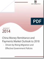 China money remittance and payments market report to 2018