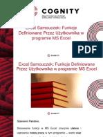 Samouczek Excel - Funkcje Definiowane Przez Użytkownika..pptx