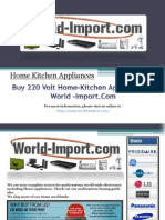 Buy 220 Volt Home-Kitchen Appliances at World-Import.Com