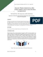 Integral Imaging Three-dimensional (3d)