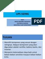 UPS Sizing Presentation (Uninterruptible Power Supply)